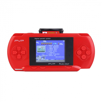 8 Bit 2.6 inch Handheld Portable PXP PVP 76 Games Console Retro Megadrive DS Video Game - Red