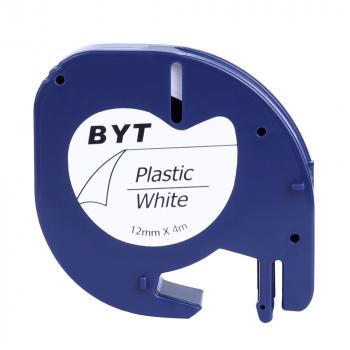 Label Tapes Compatible for DYMO LT Printer 12MM - Black on White