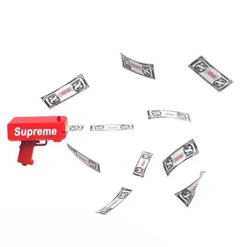 Supreme Spray Money Gun Cash Cannon Shoot Gun Funny Toys Gift Party Game
