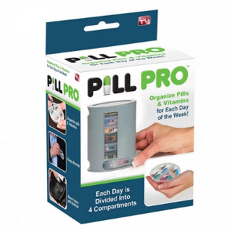 Pill Pro Box Organizer Travel Portable Pills Vintamins Divider Storage Case