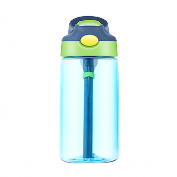500ML Straw Sports Water Bottle Leak-proof Drinking Cup - Blue