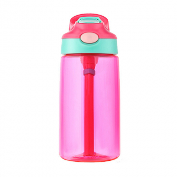 500ML Straw Sports Water Bottle Leak-proof Drinking Cup - Red