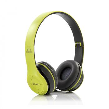 ST3 Wireless Bluetooth Headset Stereo Adjustable On-ear Headphone Earphone - Green