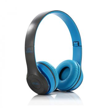 ST3 Wireless Bluetooth Headset Stereo Adjustable On-ear Headphone Earphone - Light Blue