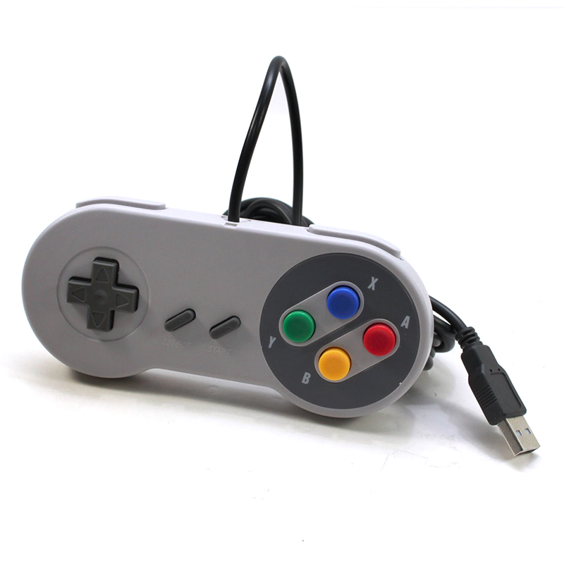 SNES Wired Game Controller Cross Button Gamepad for Game Player