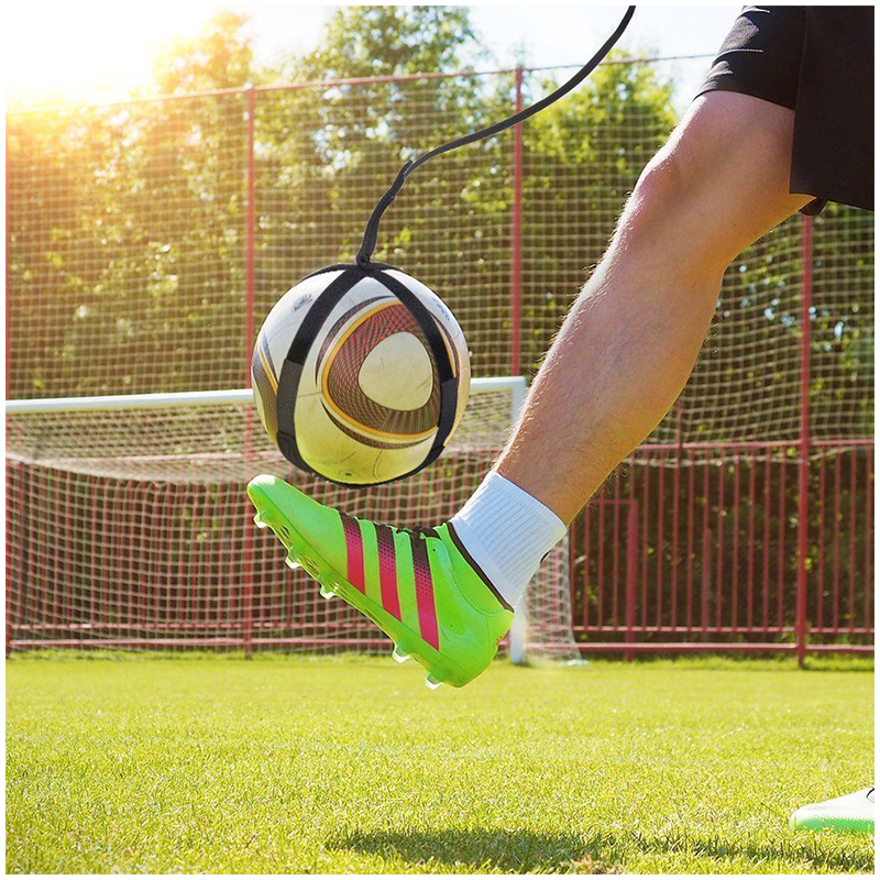 Football Self Training Kicking Practice Trainer Aid Equipment Soccer Waist Belt Returner