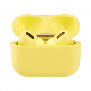 Macaron Air Pro Wireless Headphones Bluetooth 5.0 Touch Control In-ear Earphones - Yellow