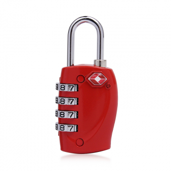 4 Digits Resetable Travel Luggage Suitcase Code Lock - Red