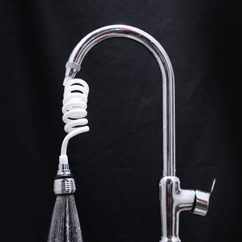 Stretchable Faucet Extender Water Saving Tap 360 Degree Rotation Shower Head Water Filter Sprayer for Kitchen Bathroom