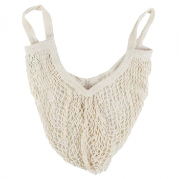 Reusable Mesh Net Turtle Bag Braided Shopping Fruit Storage Handbag Totes - White