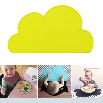 Kids Baby Silicone Insulation Kitchen Placemat Pad Dining Table Mat - Yellow
