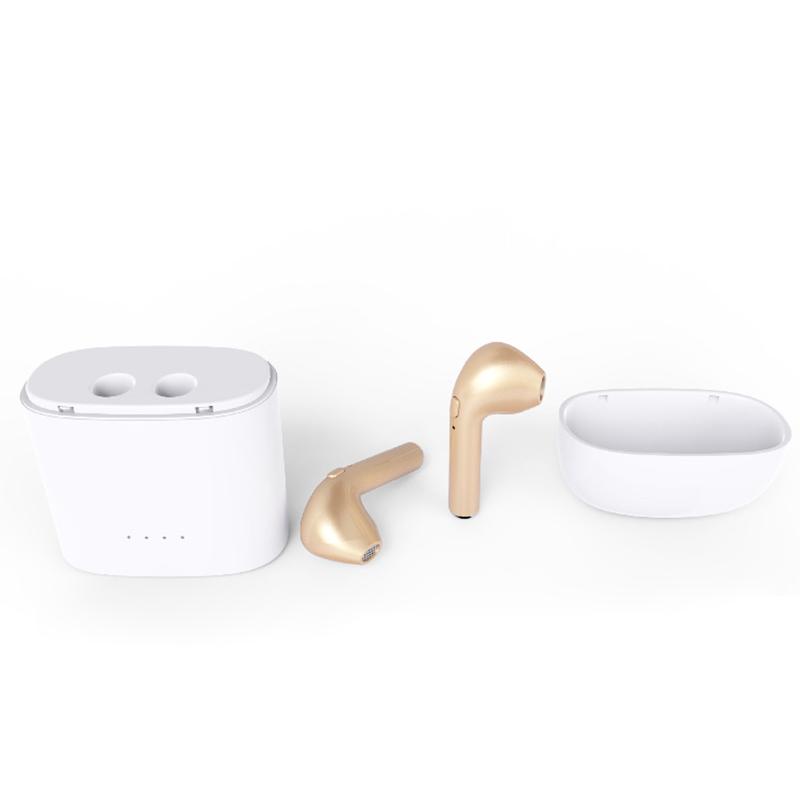 1 Pa1 Pair Bluetooth Earbud Wireless Headset In Ear Sport Earphones for Apple iPhone 7 8 - Goldir Bluetooth Earbud Wireless Headset In Ear Sport Earphones for Apple iPhone 7 8 - Gold