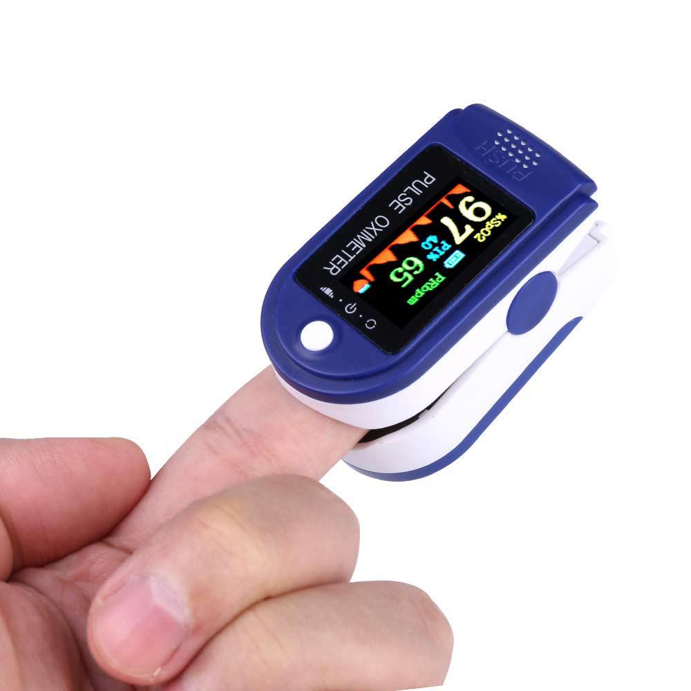 Four-color Display Fingertip Pulse Oximeter Oxygen Saturation Meter Blood Monitor Finger Oximeter with FDA CE Certificate