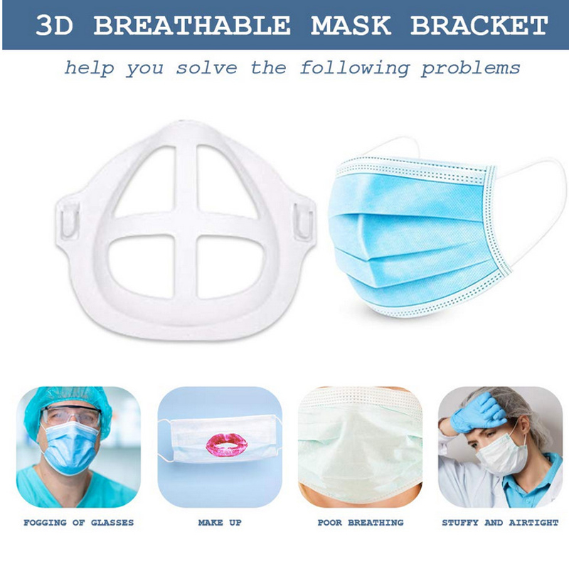 5 pcs 3D Face Masks Bracket Mouth Separate Inner Stand Holder Creat More Breathing Space