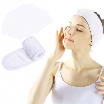 Spa Makeup Yoga Sports Headband Washing Face Hair Hood Sweat-absorbent Turban - White