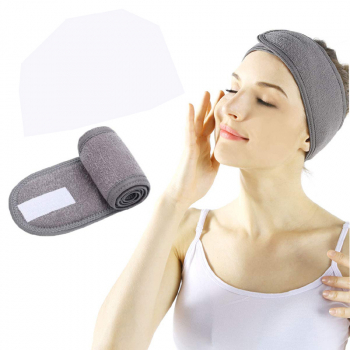 Spa Makeup Yoga Sports Headband Washing Face Hair Hood Sweat-absorbent Turban - Grey
