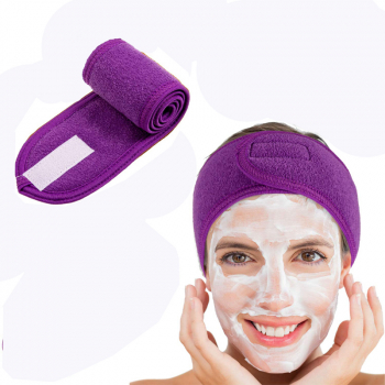 Spa Makeup Yoga Sports Headband Washing Face Hair Hood Sweat-absorbent Turban - Purple