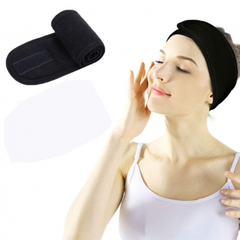 Spa Makeup Yoga Sports Headband Washing Face Hair Hood Sweat-absorbent Turban - Black