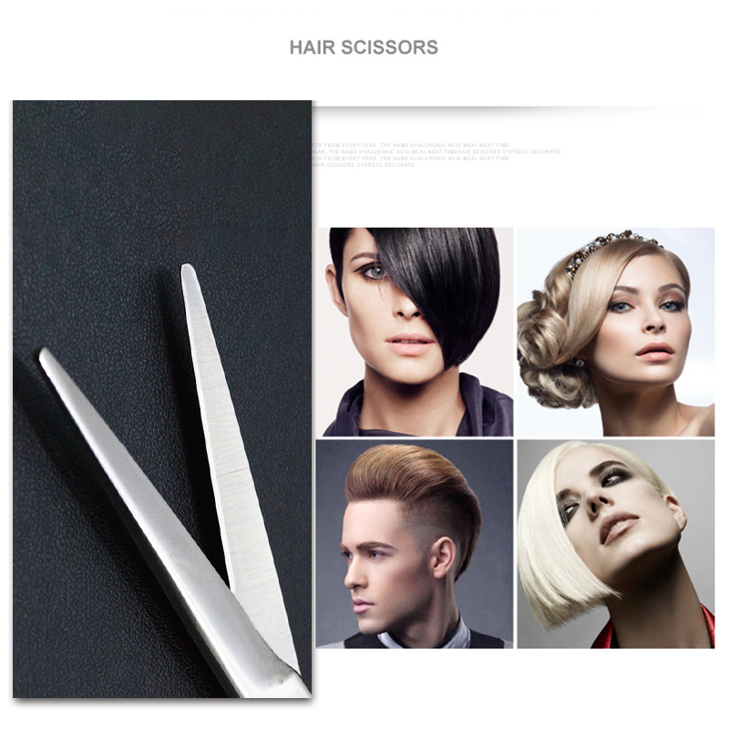 Stainless Steel Haircut 6 inch Scissors Professional Salon Hairdressing Hair Cutting Set - Flat Scissor