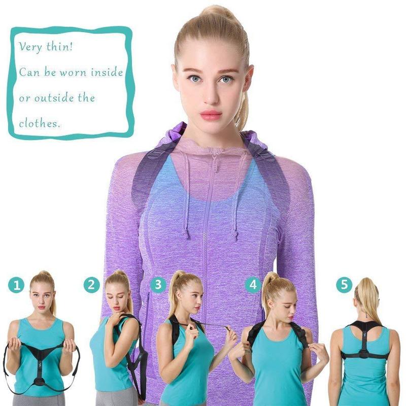 Posture Corrector Belt Adjustable Clavicle Back Support Brace for Men Women