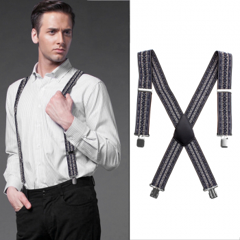 50MM Adjustable Plain Customs Mens Braces Suspenders Heavy Duty Trouser Elastic