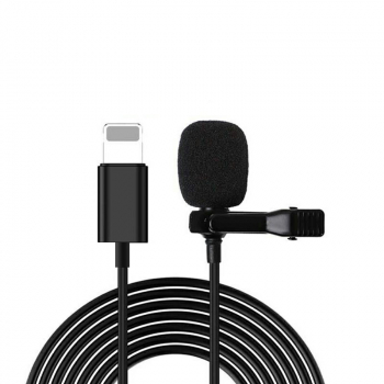 8pin Interface Lavalier Microphone for iPhone Cellphone