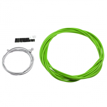 Bike Bicycle Complete Front and Rear Inner Outer Gear Brake Wire Cable Kit - Green