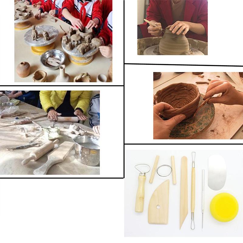 8 Pcs/set Ceramic Clay Tools Set Polymer Clay Tools Pottery Tools Set Wooden