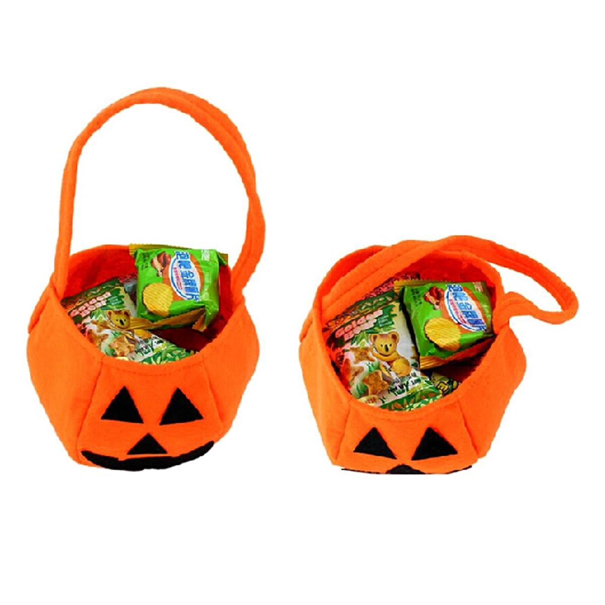 Pumpkin Candy Bag Handbag Halloween Holiday Birthday Party Gift Bag