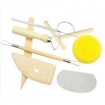 8 Pcs/set Ceramic Clay Tools Set Polymer Clay Tools Pottery Tools Set Wooden