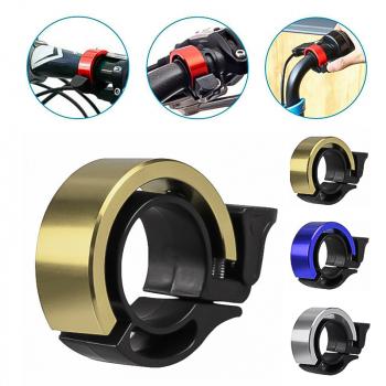 Bicycle Bell Aluminum Alloy Bike Alarm Handlebar Cycling Ring Loud - Gold