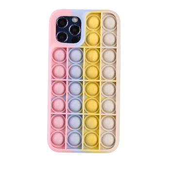 3D Fidget Rainbow Soft Silicone Case Restless Cover Back Case for iPhone 12