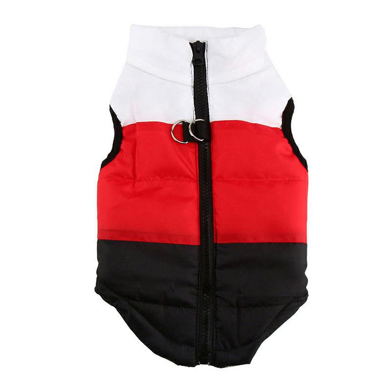 Pet Dog Cat Puppy Winter Coat Comfy Warm Vent Jacket Clothes Pulling Buckle - Size L