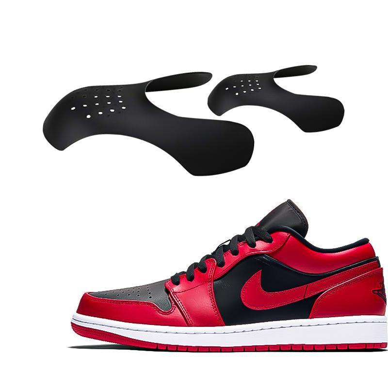 Reusable Anti Crease Sneaker Shields Shoe Trainer Protector Toe Box Decreaser for Women UK 3-6.5 - Black