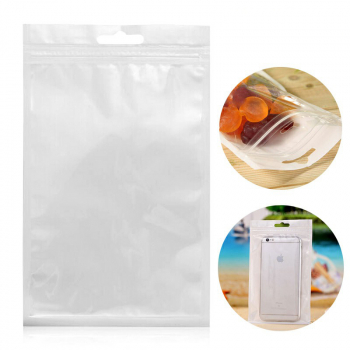10x18cm White Clear Plastic Case Seal Reclosable Zipper Packing Bags