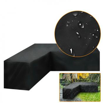 Waterproof Rattan Corner Furniture Cover Garden Outdoor Sofa Protector - 300x300x98cm