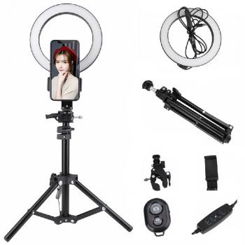 20cm LED Ring Light Dimmable Lighting Kit Phone Selfie Tripod Makeup Light for Youtube Live Stream Live