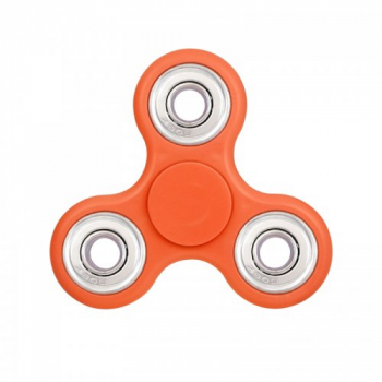 Fidget Hand Tri-Spinner EDC Finger Spin Toy for ADHD Autism - Orange