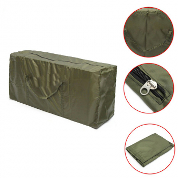 Waterproof Outdoor Furniture Cushion Storage Bag Organizer 210D Oxford Cloth - Army Green