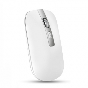 M30 2.4GHz Wireless 4-Keys Silent Adjustable DPI Ergonomics Optical Vertical Mouse - White