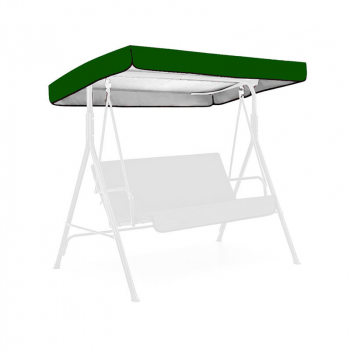 Replacement Canopy for Swing Seat 3 Seater Sizes Garden Hammock Cover - Green