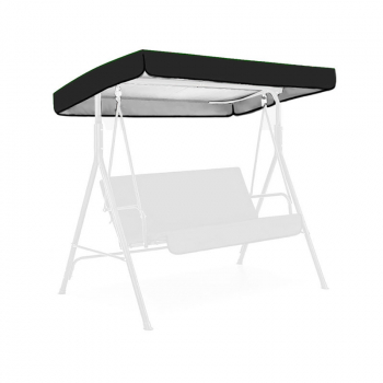 Replacement Canopy for Swing Seat 3 Seater Sizes Garden Hammock Cover - Black