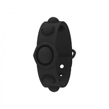 Simple Dimple Push Bubble Fidget Bracelet Portable Sensory Product Stress Relief - Black