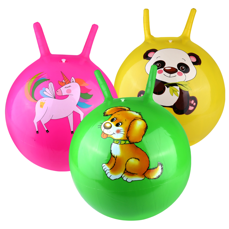 Large Space Hopper Inflatable jumping Bounce Ball with Foot Inflator - Pink
