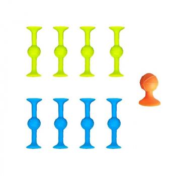 9 pcs Pop Sucker Darts Throwing Game Family Interactive Sucker Trickshot Stick Table Game