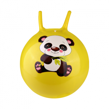 Large Space Hopper Inflatable jumping Bounce Ball with Foot Inflator - Yellow