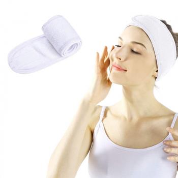 Spa Makeup Yoga Sports Headband Washing Face Hair Hood Sweat-absorbent Turban - White