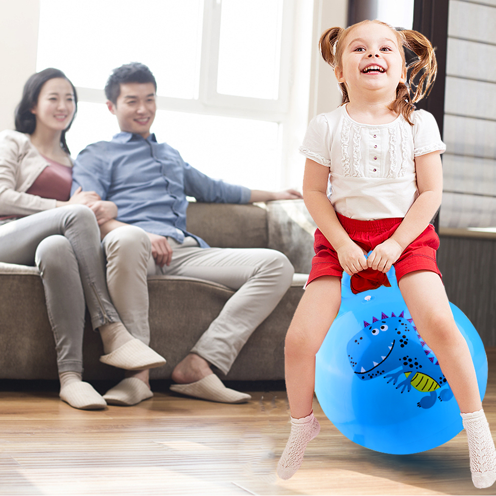 Large Space Hopper Inflatable jumping Bounce Ball with Foot Inflator - Blue