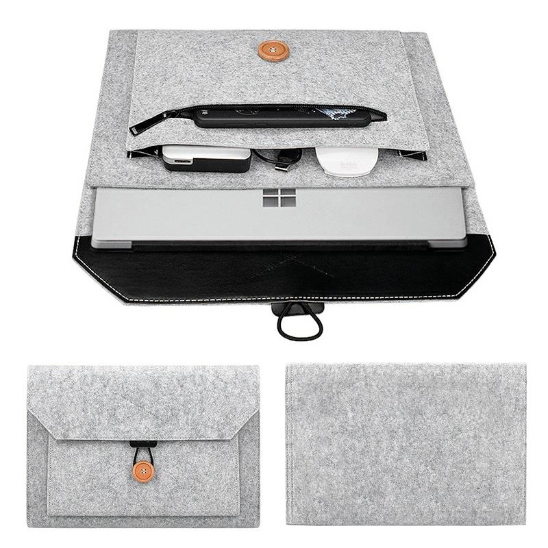 13 Inch MacBook Pro/iPad Sleeve Felt Laptop Protective Case - Grey