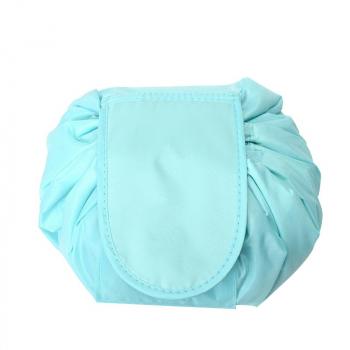 Drawstring Portable Travel Cosmetic Bag Makeup Toiletry - Green